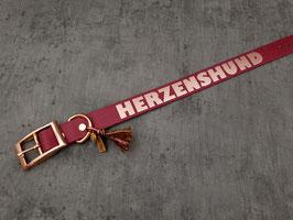 """Halsband """"Herzenshund"""" roségold"""