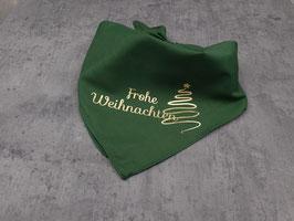 """Halstuch """"Frohe Weihnachten + Baum"""""""