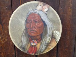 """Indianer Trommel mit Portrait von Häuptling """"Washakie"""""""