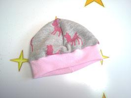 Mütze, Newborn, Sweatstoff