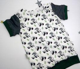 "T-Shirt, Bio Jersey, 92/98, ""Panda"""