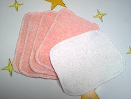 Babywaschlappen, Waschlappen, Kinderwaschlappen, 5 Stück, Baumwolle/Bambus