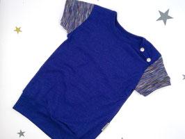 "T-Shirt, Bio Wolle Seide, 80/86, ""Blau"""