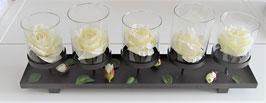 Tischdekoration für Blumen oder Kerzen