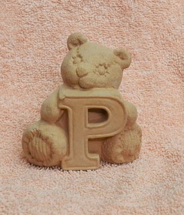 """Buchstabenbär """"P"""" rosa"""