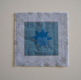 Stern hellblau-silber