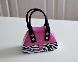 Handtaschendose pink-schwarz-weiß