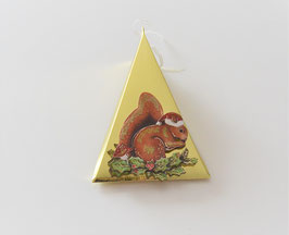 Weihnachtsbox Dreieck mit Eichhörnchen