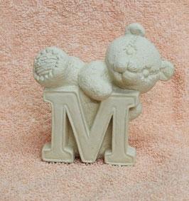 """Buchstabenbär """"M"""" weiß"""