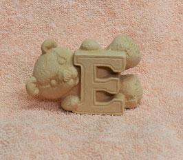 """Buchstabenbär """"E"""" rosa"""