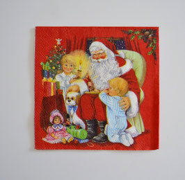 Nikolaus im Sessel mit Kinder
