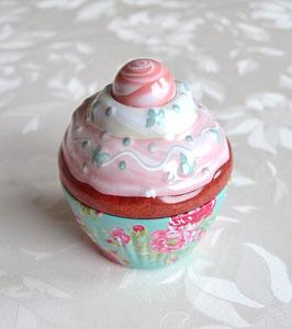 Cupe Cake grün mit rosa Deckel