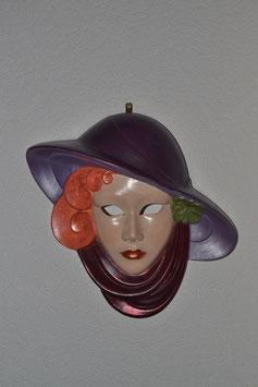 Maske lila-organge
