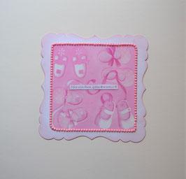 """Babykarte rosa """"Herzlichen Glückwunsch"""""""
