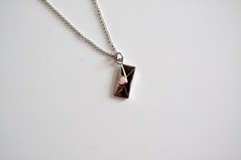 Anker-Halskette, Anhänger Kuvert mit Herz