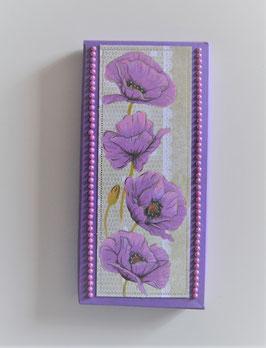 """Geschenkschachtel lila """"Viele Grüße"""""""