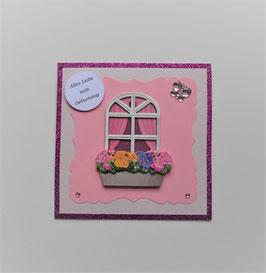 """""""Alles Liebe zum Geburtstag"""" in creme-rosa-pink"""