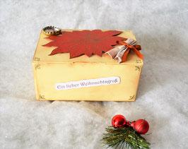 Weihnachtsbox beige mit Weihnachtsstern