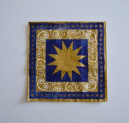 Stern gold-blau