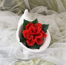 Füllhorn aus Keramik weiß