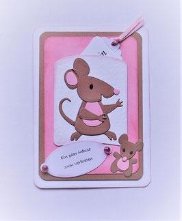 """Geldkarte """"Ein paar Mäuse zum Verbraten"""""""