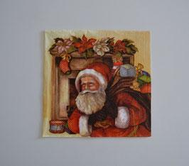 Nikolaus mit Sack vorm Kamin