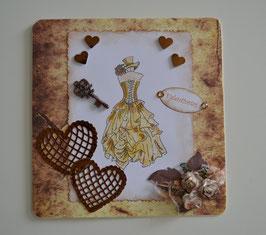 Valentinstagkarte braun-beige