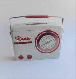 Radio beige-rot