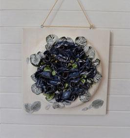 Blumenkranz weiß-blau