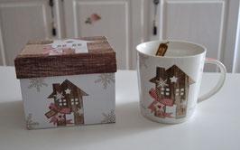 Tasse Motiv Haus im Geschenkkarton