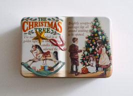 Buchdose klein mit Weihnachtsbaum