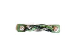 Schalschmuckband Verlängerung grün geflochten