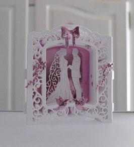 Geschenkbox mit 3 D-Karte zur Hochzeit