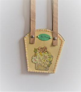 Pflanzen-Tasche klein hellgelb (1)