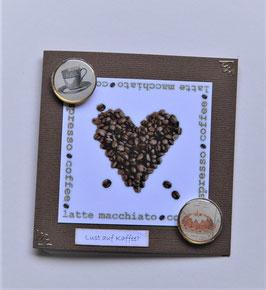 """Kleine Glückwunschkarte """"Lust auf Kaffee?"""""""