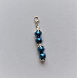 Perlenanhänger 4 Perlen blau