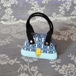 Handtaschendose hellblau-dunkelblau