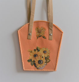 Pflanzen-Tasche groß lachs (2)