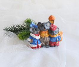 Singende Mäuse mit Laterne