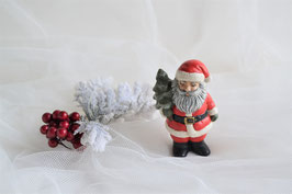 Nikolaus stehend mit Tannenbaum rot-weiß
