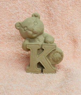 "Buchstabenbär ""K"" braun"