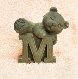 """Buchstabenbär """"M"""" braun"""