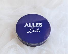 """Geschenkdose blau """"Alles Liebe"""""""