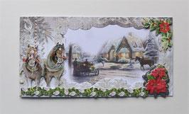 Pferde und Weihnachtsstern