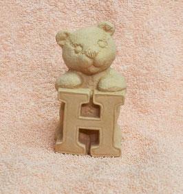"""Buchstabenbär """"H"""" rosa"""