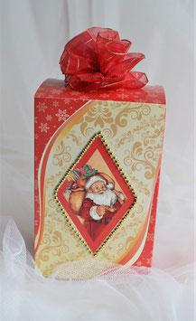 Kaffeebox rot-gold mit Nikolaus