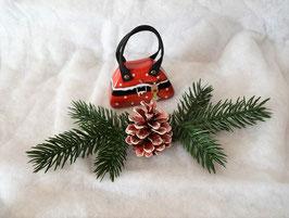 Handtaschendose Weihnachten rot