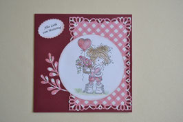 Muttertagskarte rot-karo