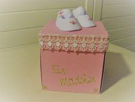 Fallschachtel für Baby rosa