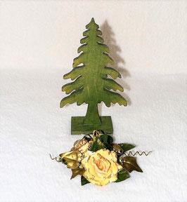Tannenbaum grün aus Holz